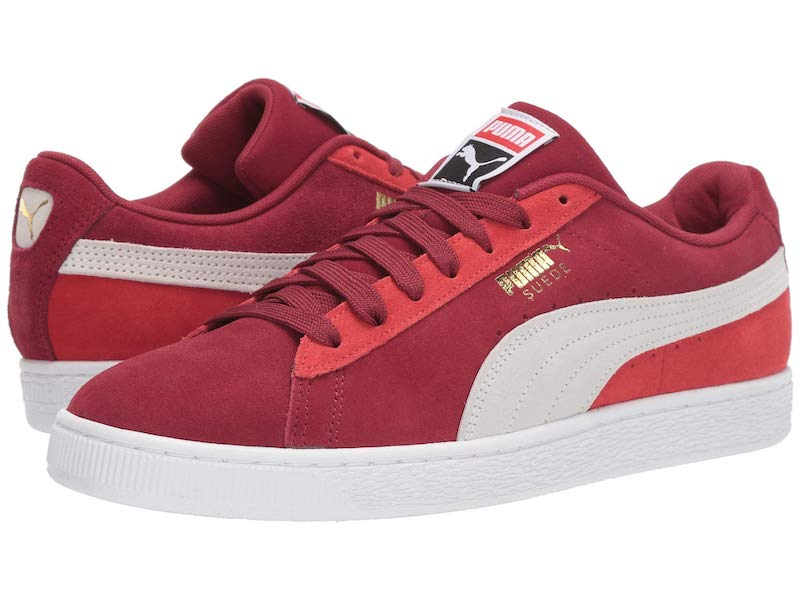 Valentine's Day gift ideas for boys: Suede Pumas in red