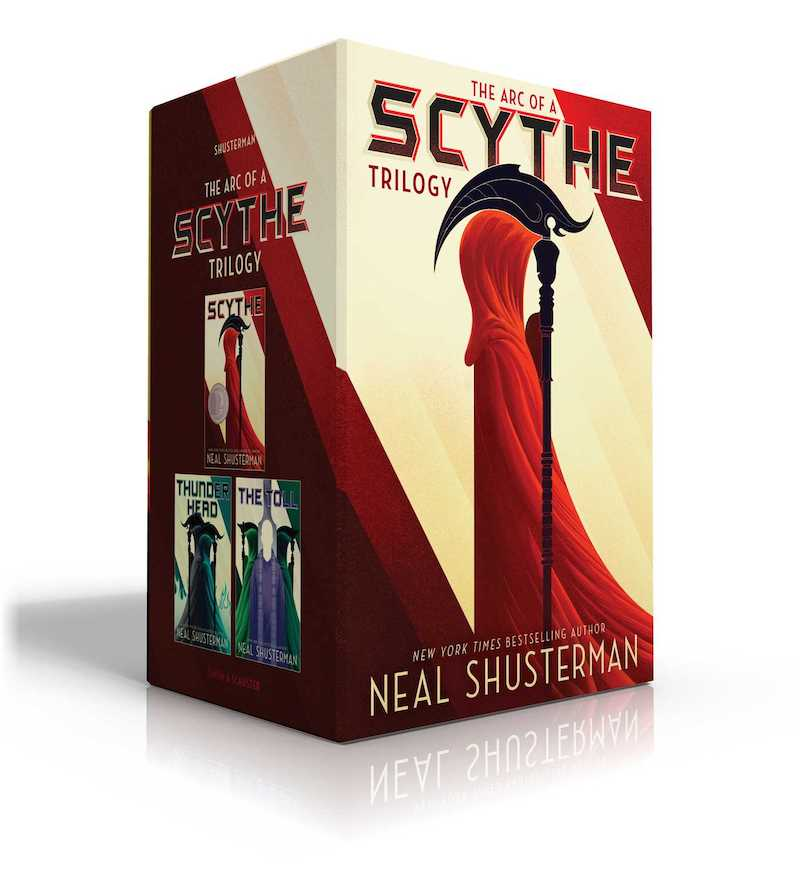 Valentine's Day gift ideas for boys: The Arc of a Scythe series by Neal Schusterman