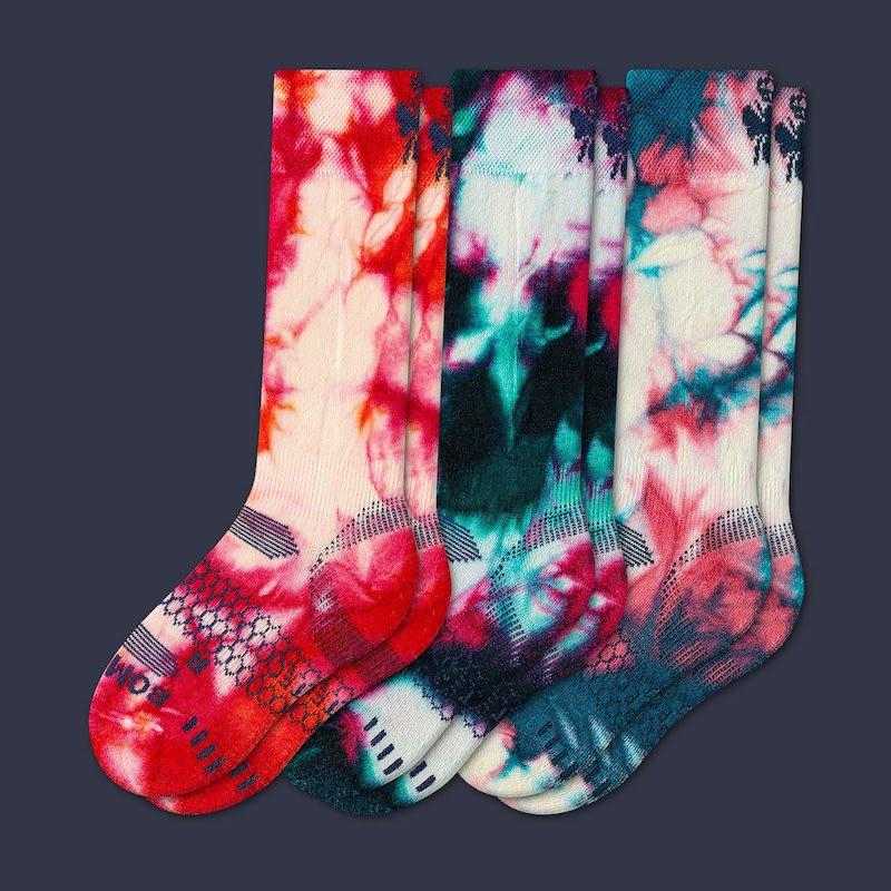 Valentine's Day gift ideas for boys: tie-dye red Bombas socks