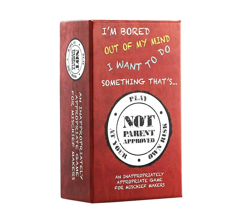 Valentine's Day gift ideas for boys: Not Parent Approved card game