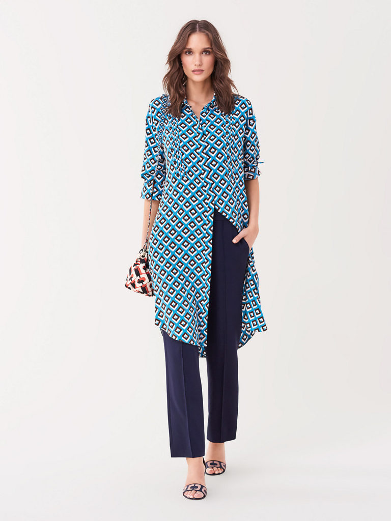 You get so much wear out of the DVF shirt dresses! Belt over leggings, wear as a dress alone, or layer like a duster
