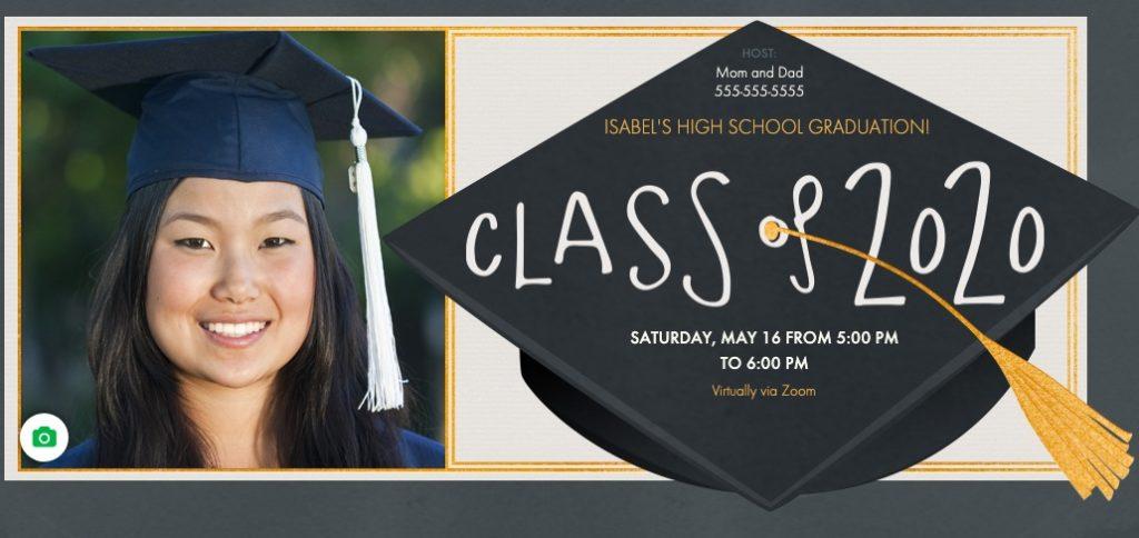 Celebrate graduates using Evite's graduation invitations to a virtual event