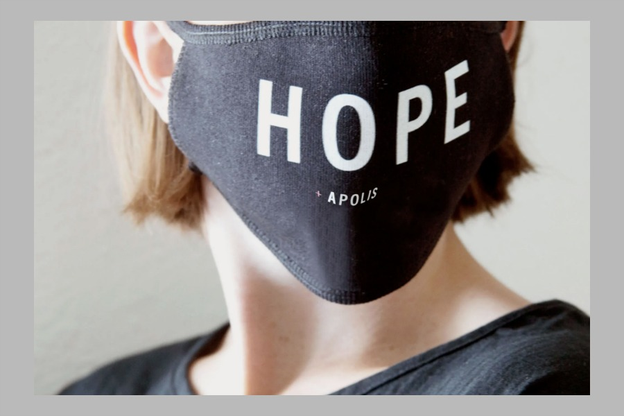 These customizable face masks from Apolis support families in need