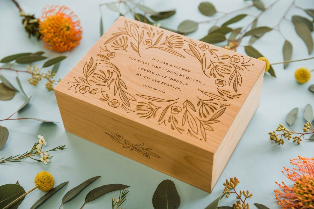 Meaningful Mother's Day gifts for mom or grandma:A Keepsake box featuring this Tennyson quote. Fill it with something special or let her do it| Mother's Day Gift Guide