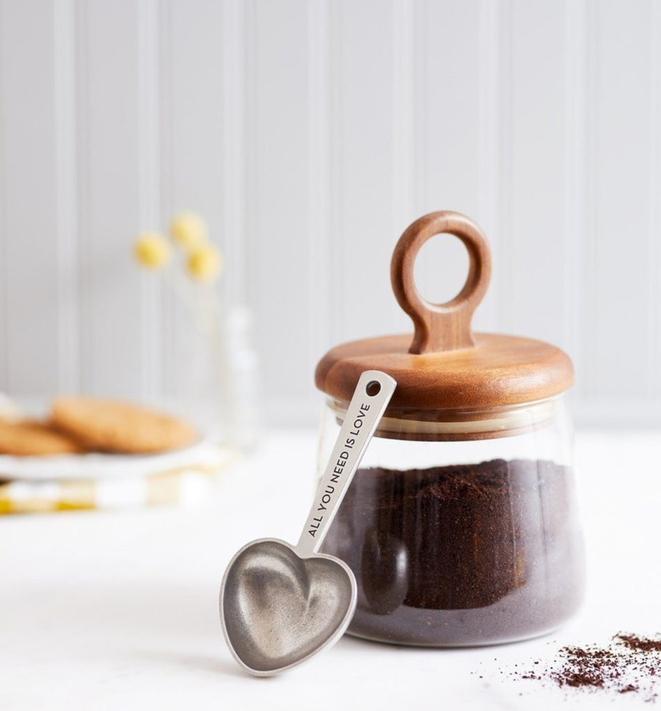 Meaningful Mother's Day gifts for mom or grandma: A heart coffee scoop so she starts her day with loving thoughts of you Mother's Day Gift Guide