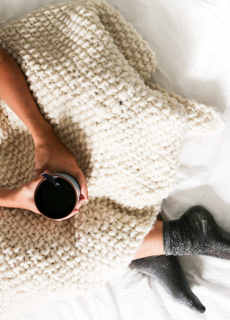Meaningful Mother's Day gifts for mom or grandma: Knit your own blanket for her from this kit from We Are Knitters | Mother's Day Gift Guide