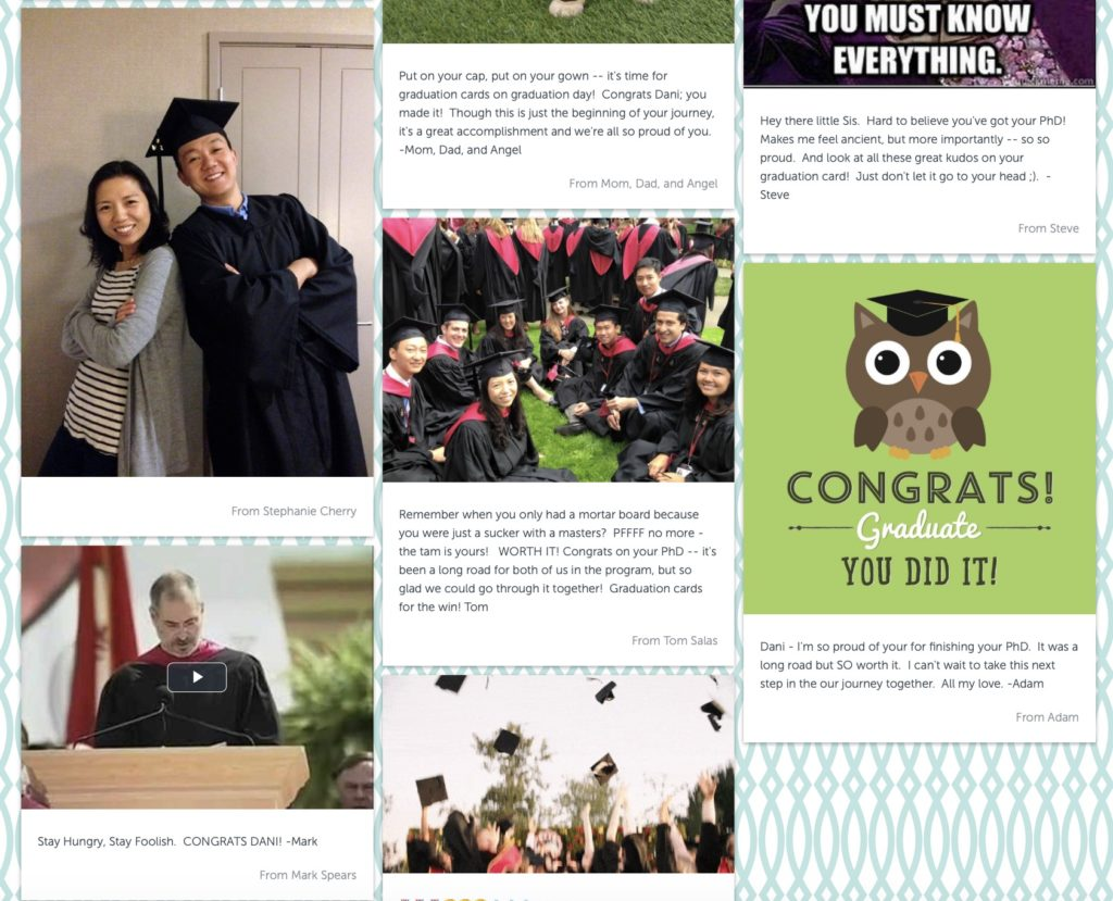Graduation ideas for Covid 19: Celebrate graduates with videos and photos from friends, teachers, and other VIP's using Kudoboard