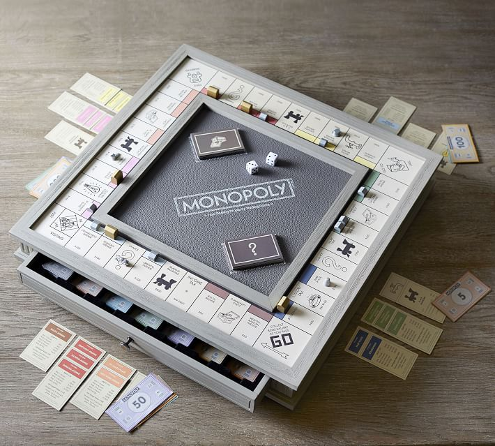 Meaningful Mother's Day gifts for mom or grandma:A board game for playing together over zoom calls -- like this luxury monopoly set | Mother's Day Gift Guide