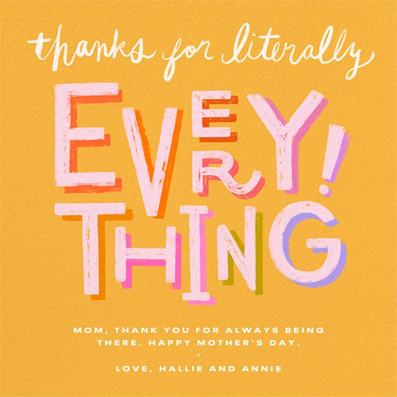 Great Mother's Day ecards: Literally Everything at Paperless Post