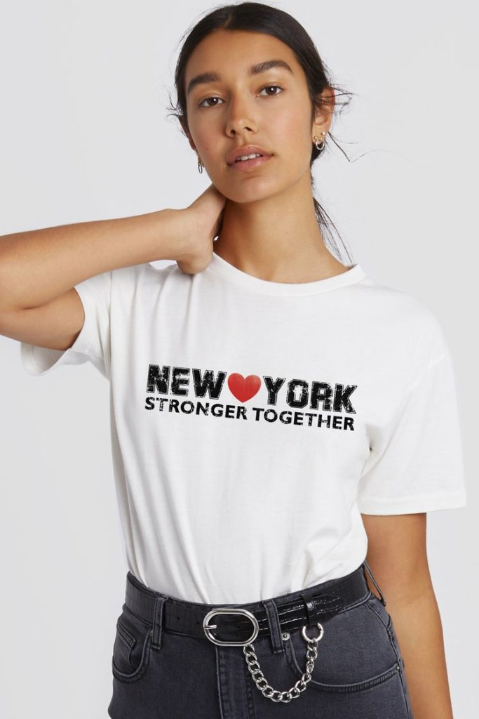 Mother's Day gifts that give back to Covid relief and healthcare workers:I Love NY tee from Rebecca Minkoff