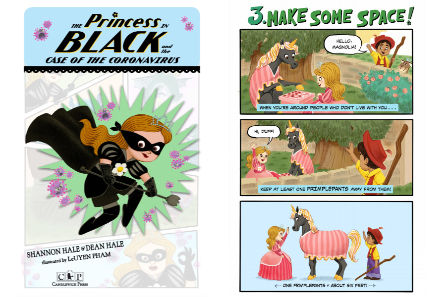How to explain social distancing to young kids: This free downloadable Princess in Black comic book helps