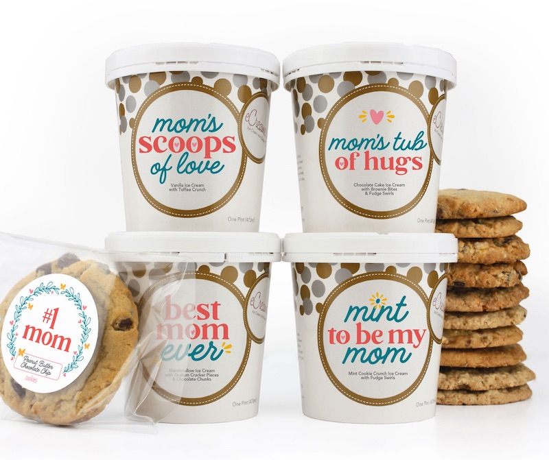 Self-care gifts for mom: Ice cream and cookies from eCreamery, with the promise that she doesn't have to share.