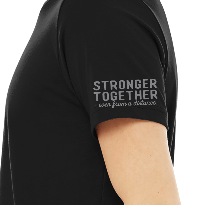 Mother's Day gifts that give back to Covid relief and healthcare workers: Stronger Together/ Courage tee from I Am Elemental