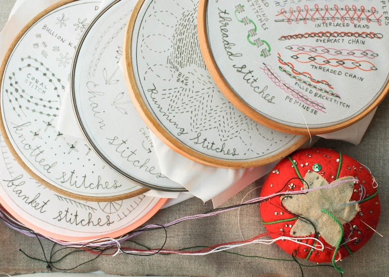 Subscription gift ideas for moms: Learn a new skill with the Stitch of the Month club from Dropcloth Samplers