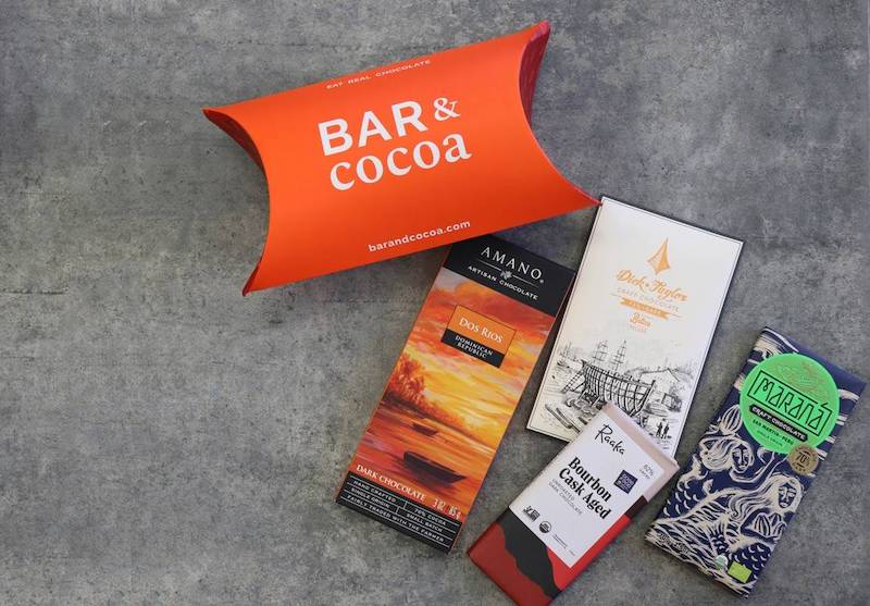 Subscription gifts for moms: Bar & Cocoa gourmet chocolate for the chocoholic with discerning taste.