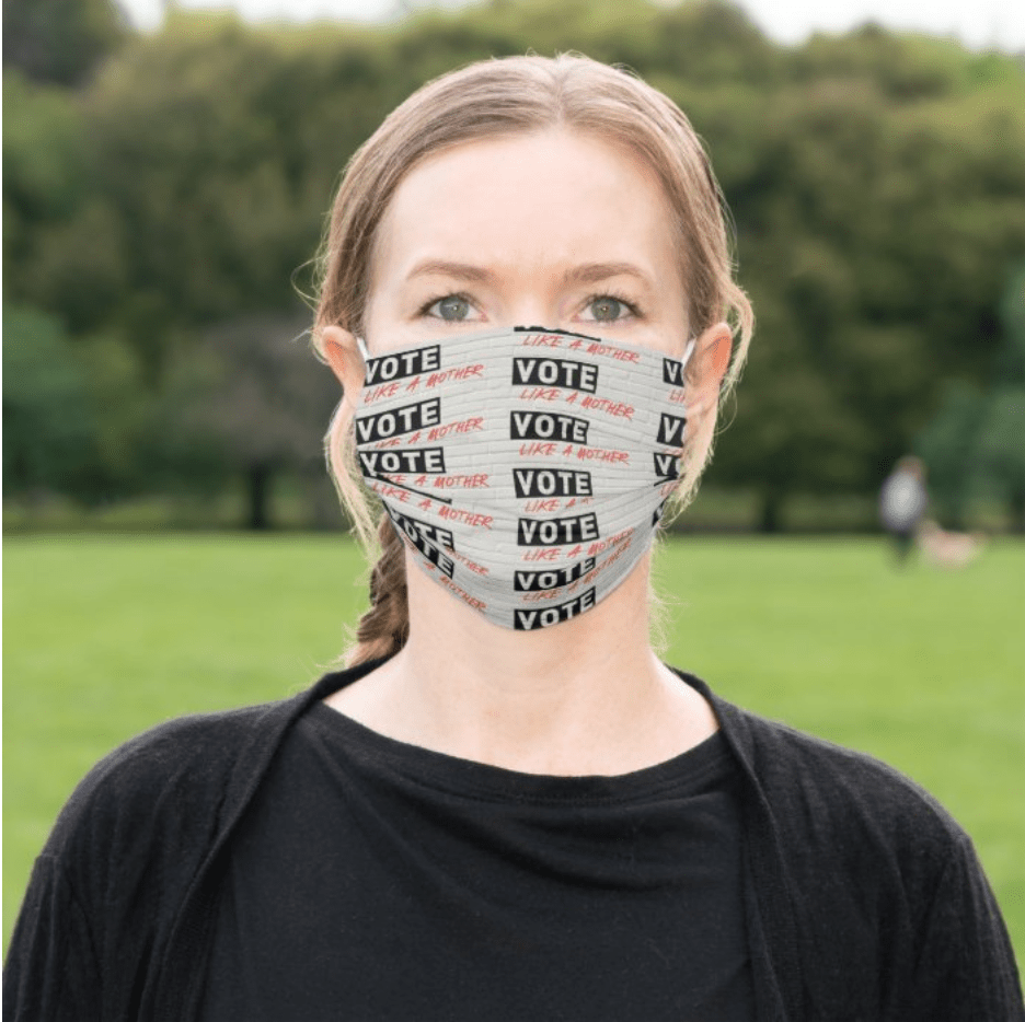Mother's Day gifts that give back to Covid relief and healthcare workers: Vote Like a Mother face mask