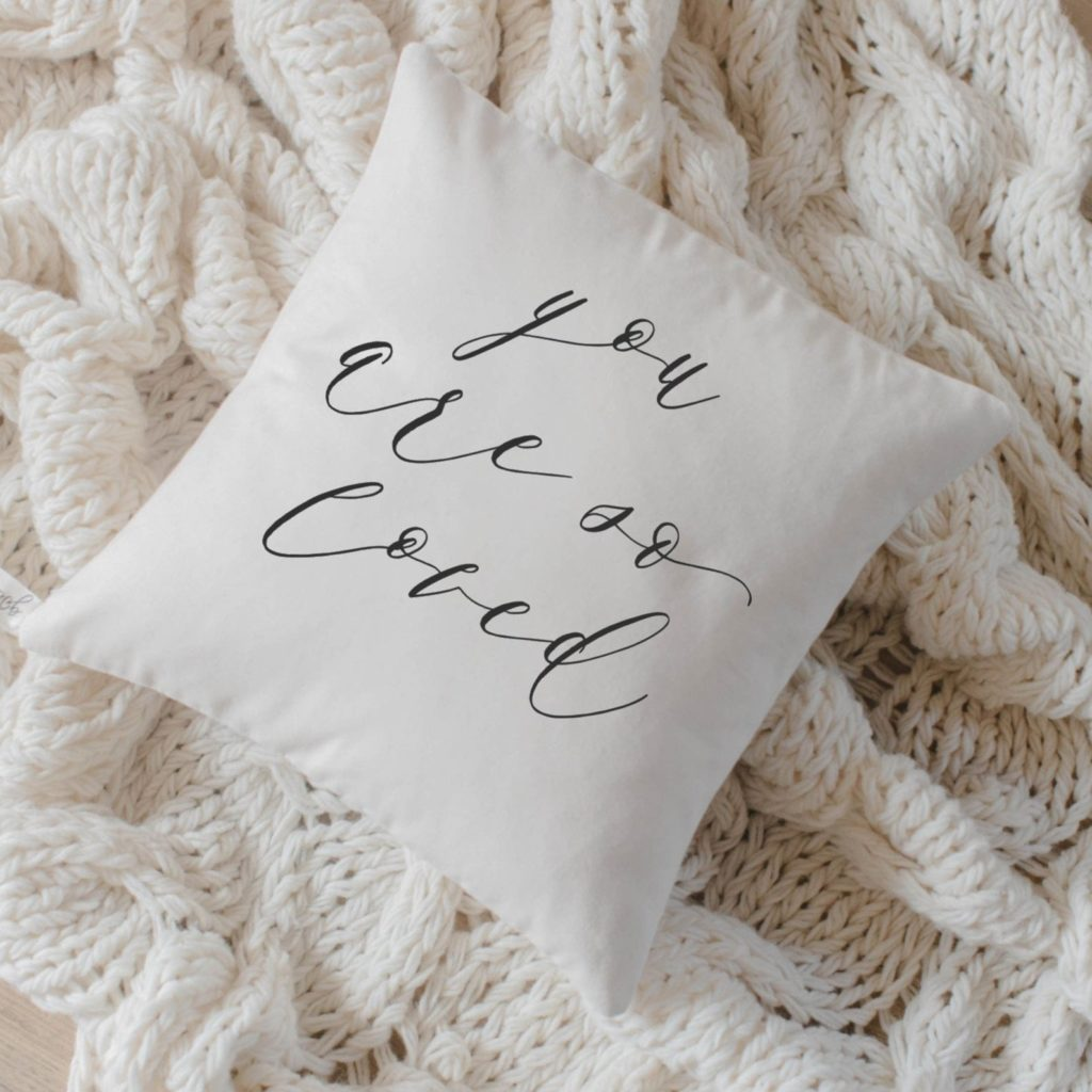 Special gifts for mom from the kids: You are so loved pillow on Etsy | Mother's Day gift guide