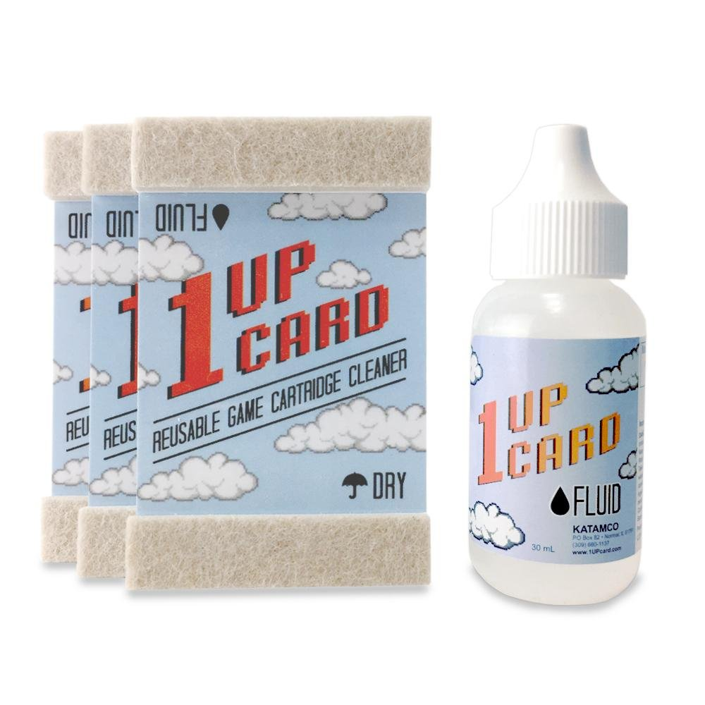 1Up Card Vintage Video Cartridge Cleaning Set: Father's Day gifts under $20