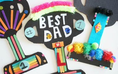 11 easy Father's Day crafts for kids that celebrate #1 dads, rock star dads, and superhero dads. | Father's Day Gift Guide