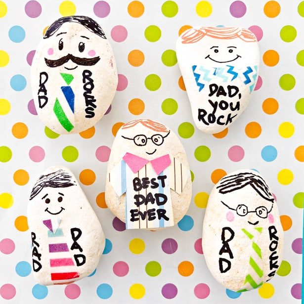 Easy Father's Day crafts for kids: Create your own Father's Day paperweights with this craft from Hello Wonderful