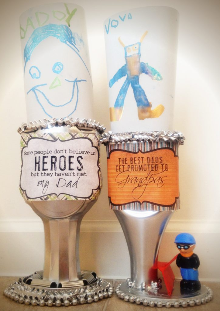 Easy Father's Day crafts for kids: Loving this DIY Father's Day trophy craft from Narnia Forever all made from recycled materials at home