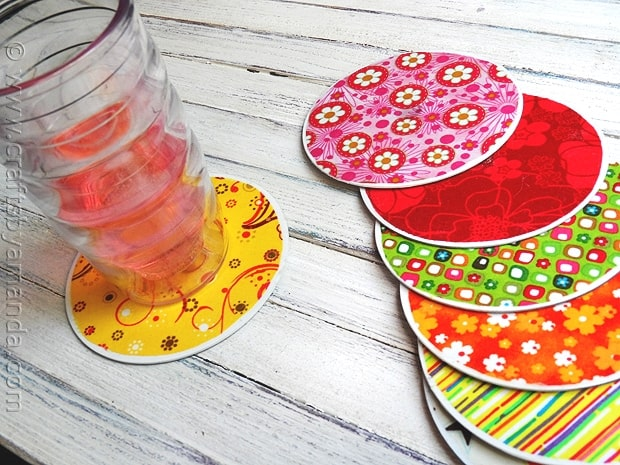 Turn old CD's into coasters for Mother's Day with this tutorial by Crafts by Amanda