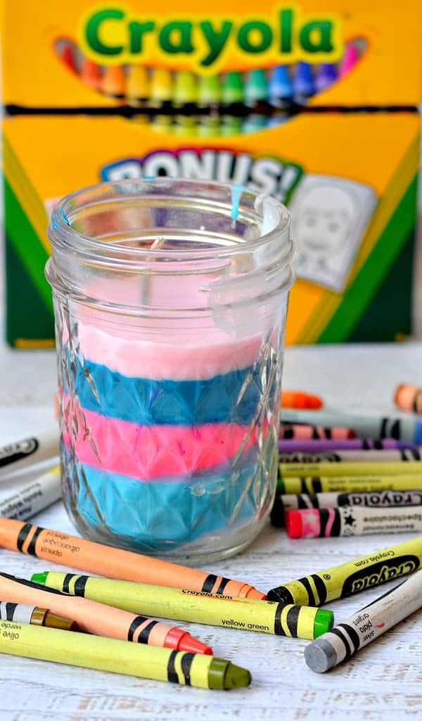 Recycled crayons can become candles in this Mother's Day craft by The Pinning Mama