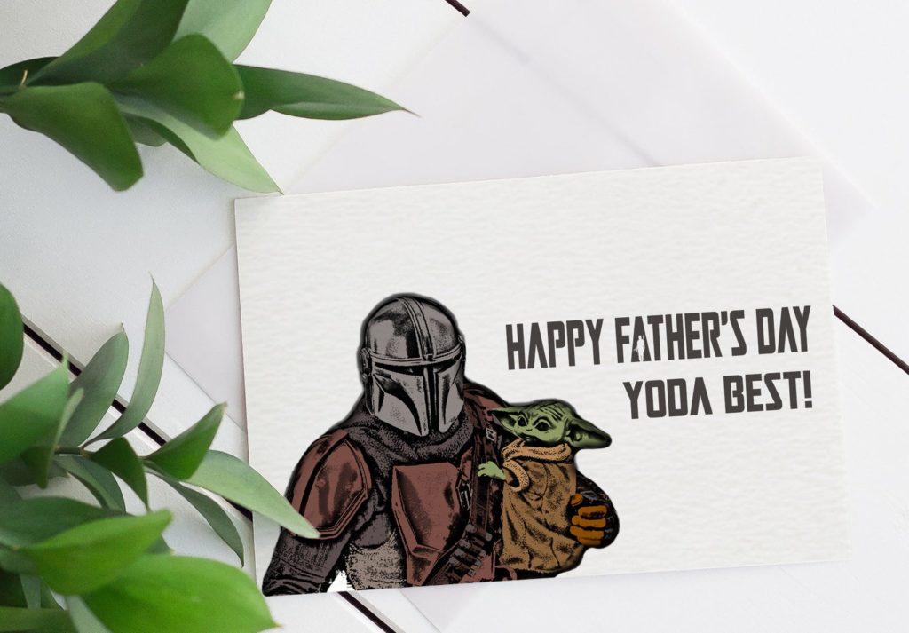 Funny Father's Day cards   Baby Yoda card by LoveKNeis