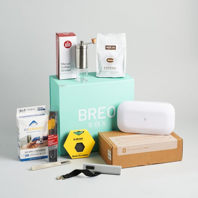 Cool subscription gifts for men: Breo box is a great subscription for the tech geek in your life.