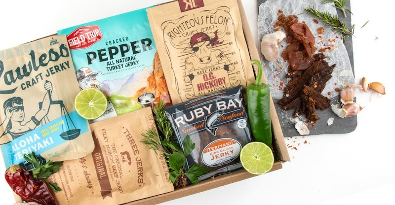 Cool subscription gifts for men: A gourmet subscription of jerky from Mouth.