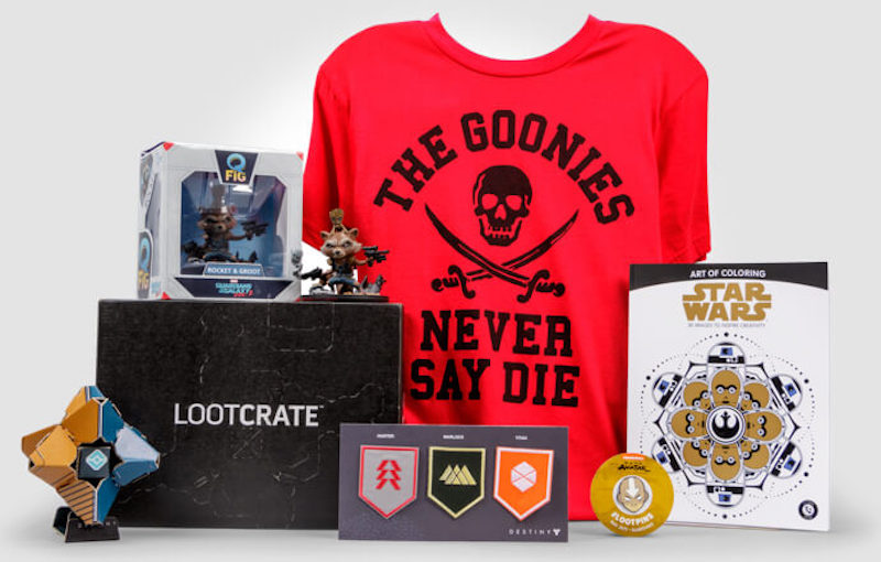 Cool subscription gifts for men: Loot Crate has great subscription boxes for every kind of geek, from the gamer to the superhero fan.
