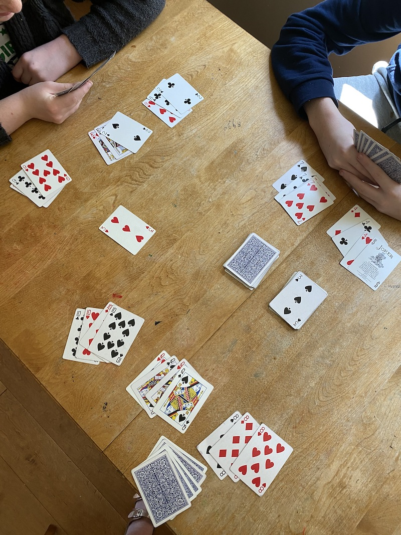 Fun card games for kids: Canasta is a great game to play with a big group! | Photo © Kate Etue for Cool Mom Picks