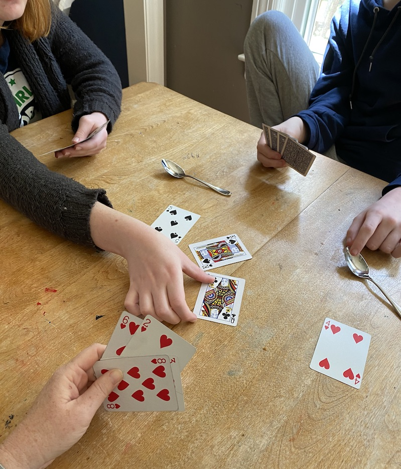 Fun card games for kids: Spoons is a wild, energetic social card game | Photo © Kate Etue for Cool Mom Picks