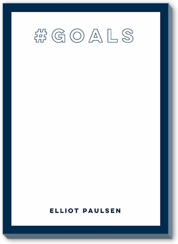 Cool Father's Day gifts under $20:  Hashtag goals personalized notepad
