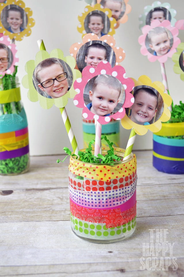 Easy Mother's Day flower pot idea from The Happy Scraps