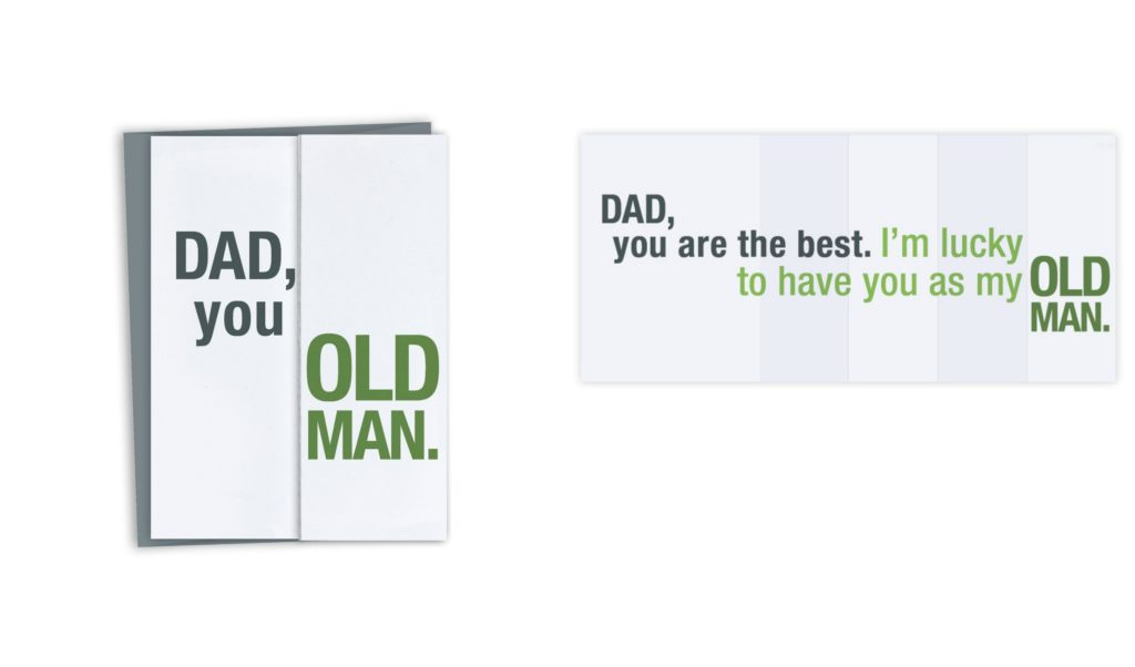 Funny Father's Day cards   Old man card by Finch and Hare