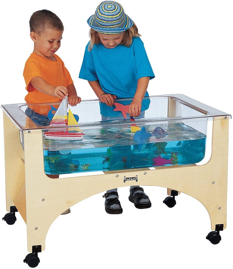 Fun backyard water toys for kids: This sensory water table is a great option for kids with limited mobility who still want to enjoy cooling off outdoors.