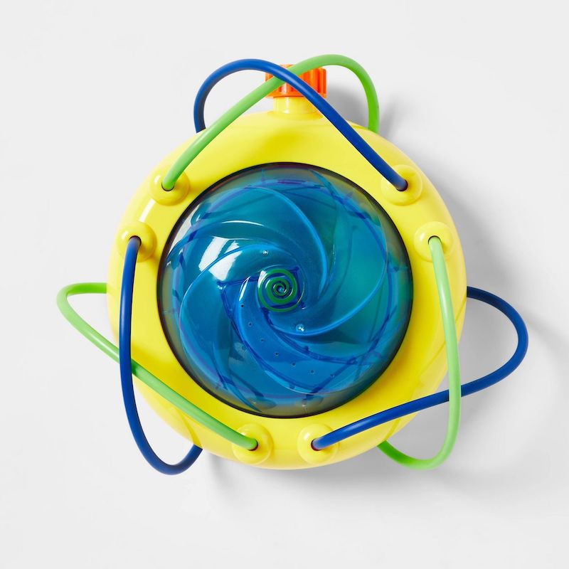 Fun backyard water toys for kids: The Wet & Wild Light Show sprinkler packs a lot of fun into a small package.