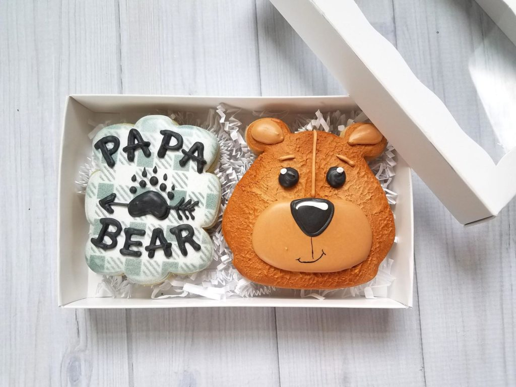 Cool Father's Day gifts under $20:  Papa Bear cookies at Sweet by Nature