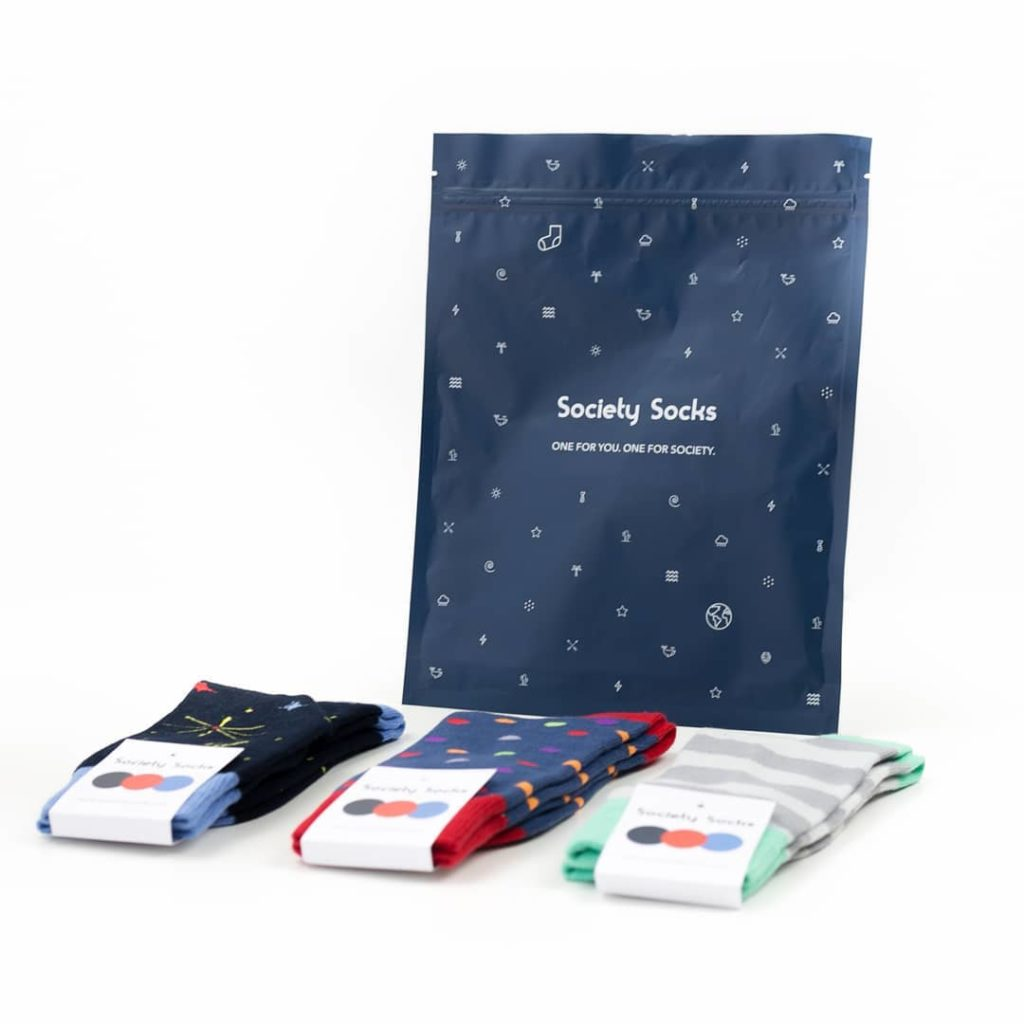 Best subscription gifts for men: Society Socks donate a pair for every pair he gets