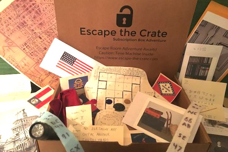 Cool subscription gifts for men: For the guy who loves a good puzzle, an Escape the Crate escape room subscription is perfect.