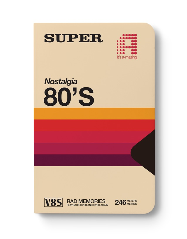 Cool Father's Day gifts under $20: vintage looking 80s VHS journal
