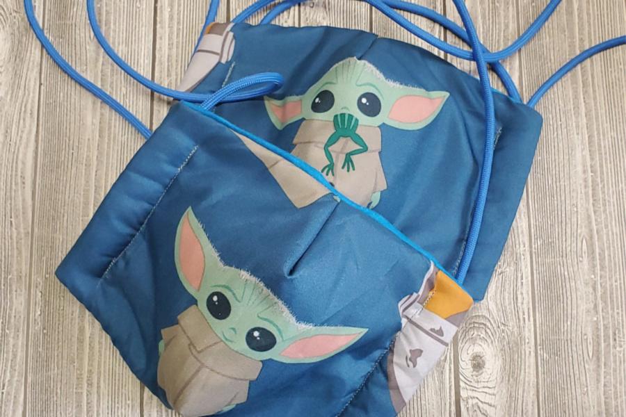 Baby Yoda face mask