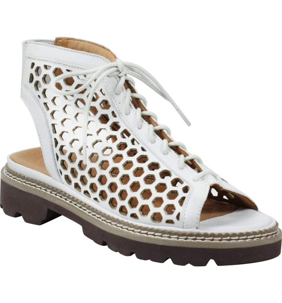 Favorite cute, comfy shoes on sale at Nordstrom right now:  L'Amour de Pieds Dantu Lace-Up Sandal with lug sole. So great!