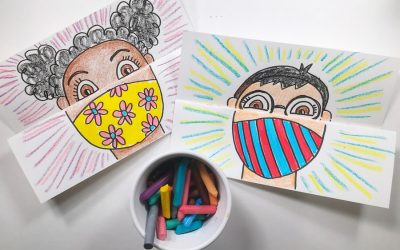 This brilliant mask self-portrait art project is one every teacher needs to assign before school starts.