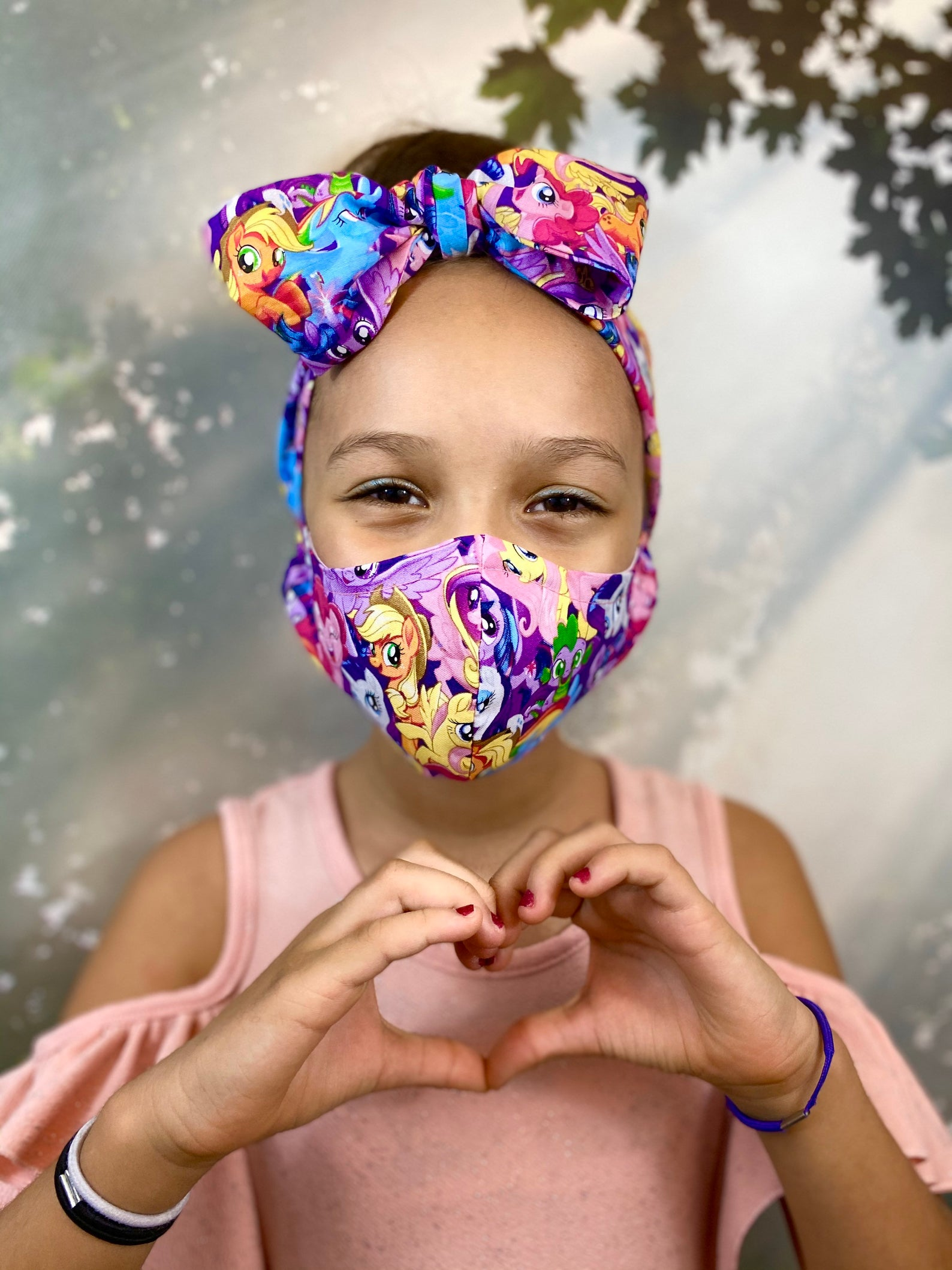 Cool face mask accessories for kids: A matching headband that's super fun is even more motivation to keep your mask on.