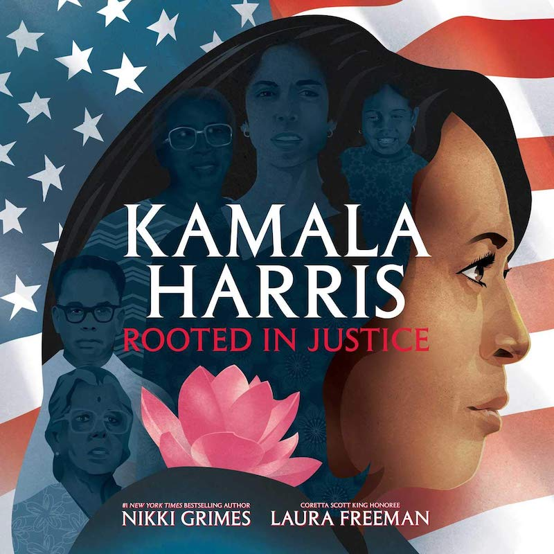 Great children's books about Kamala Harris: Kamala Harris: Rooted in Justice by Nikki Grimes and Laura Freeman is a biography for grade-schoolers, but our tweens will enjoy it too