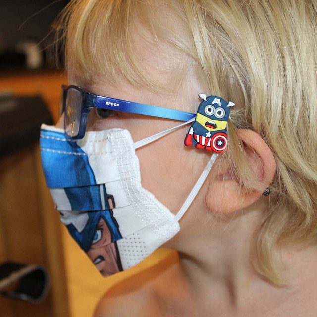 Cool face mask accessories for kids: Mask Mate sliders save your kids' ears—and they're so fun!