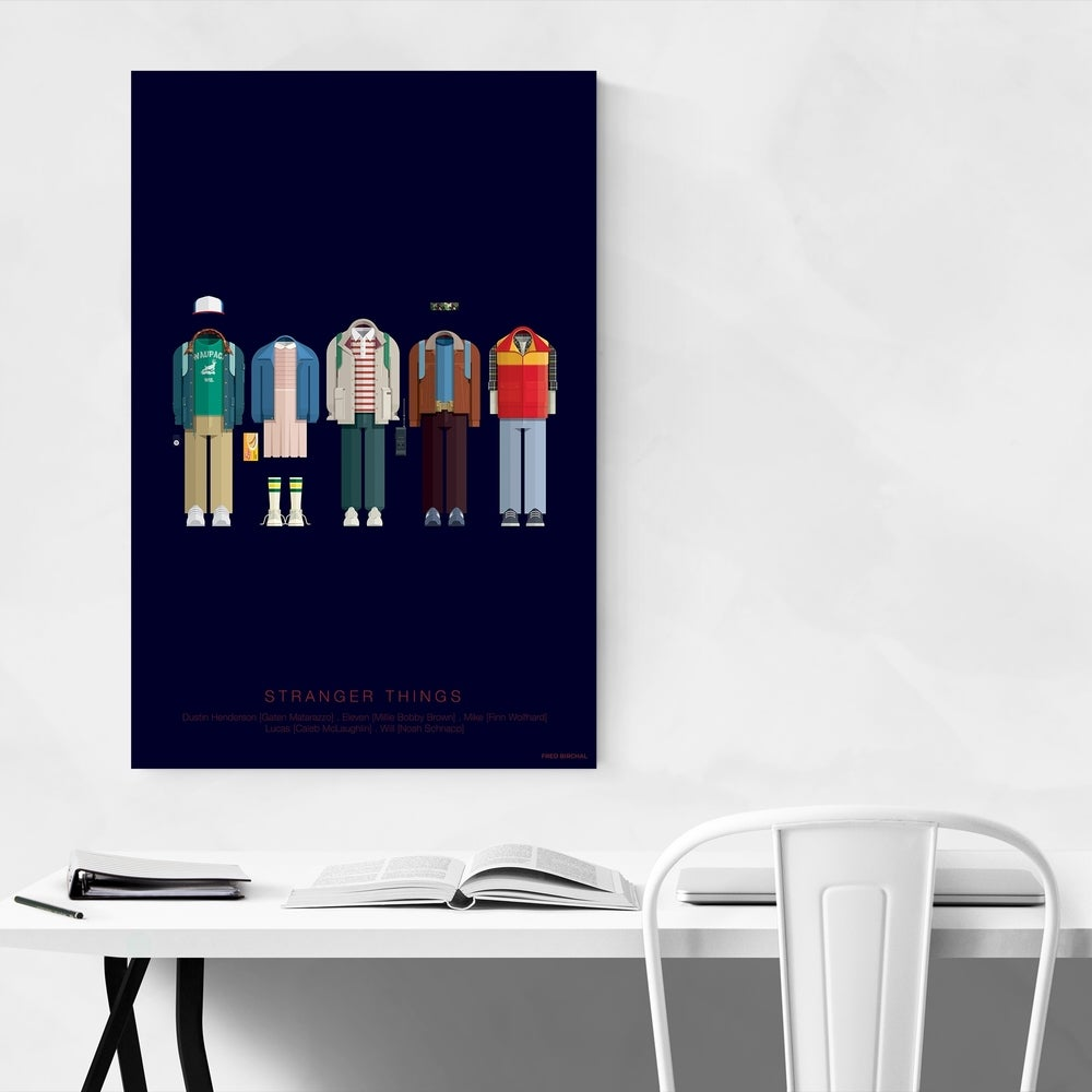Stranger Things minimalist artwork available at Overstock (sponsor): So cool for a kids' study space! Especially on those Zoom calls
