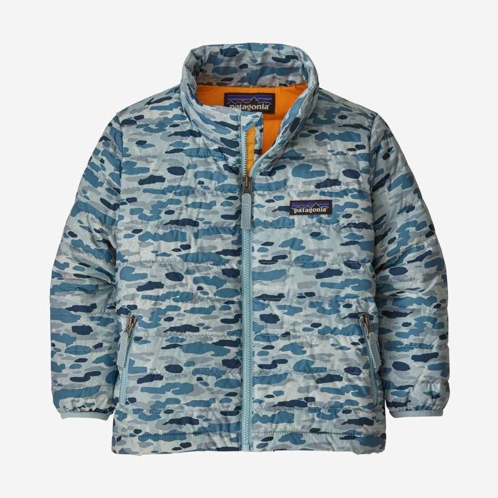 Patagonia's Baby Down Sweather Jacket is a terrific kids' jacket for fall, in lots of patterns and solid colors